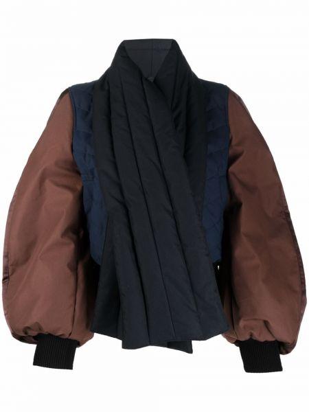 Кожаная куртка с воротником - черная Loewe