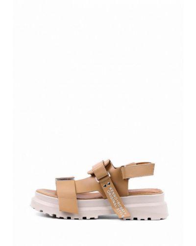 Коричневые кожаные сандалии Leberdes