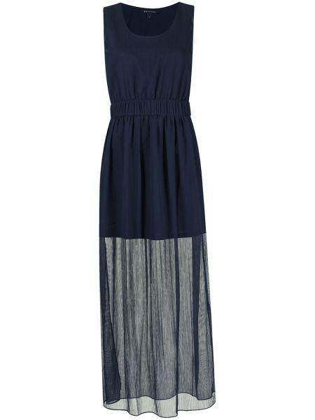 Серебряное платье макси без рукавов металлическое Armani Exchange