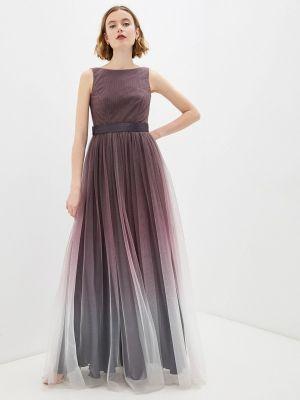 Вечернее платье - коричневое Seam