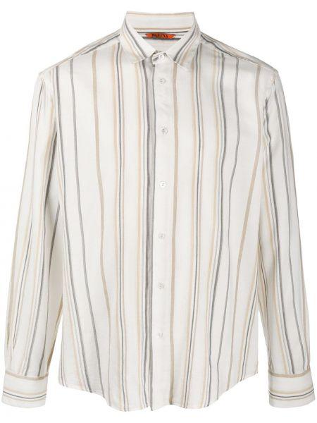 Koszula z długim rękawem z paskami w paski Barena