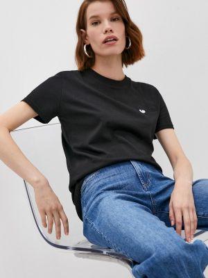 Черная футболка с короткими рукавами Chiara Ferragni Collection