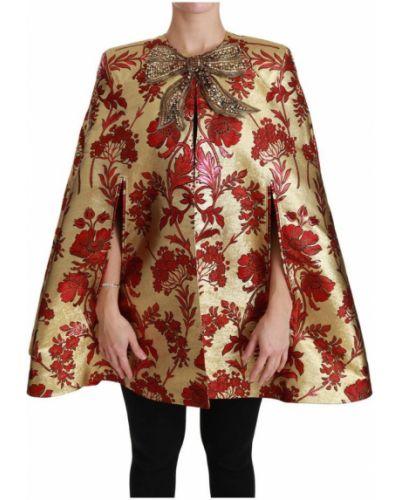 Złota czerwona narzutka Dolce And Gabbana