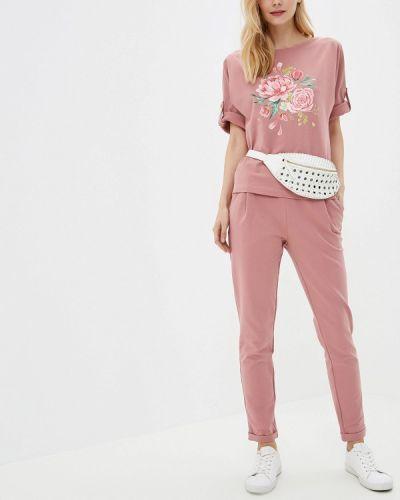Брючный костюм розовый Fashion.love.story