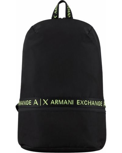 Czarny plecak elegancki Armani Exchange