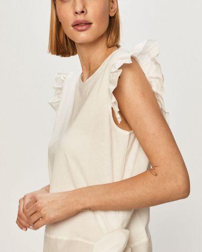 Biały t-shirt bawełniany na co dzień Silvian Heach