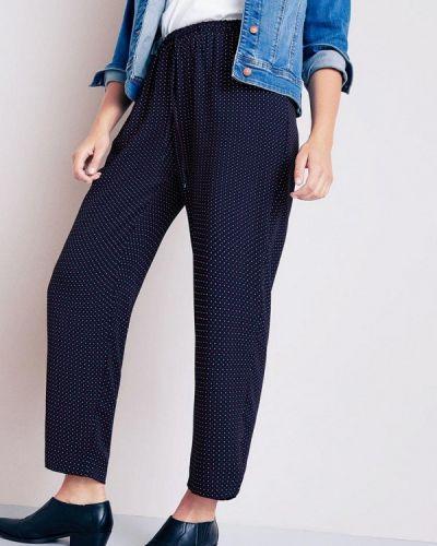 Синие брюки зауженные Violeta By Mango
