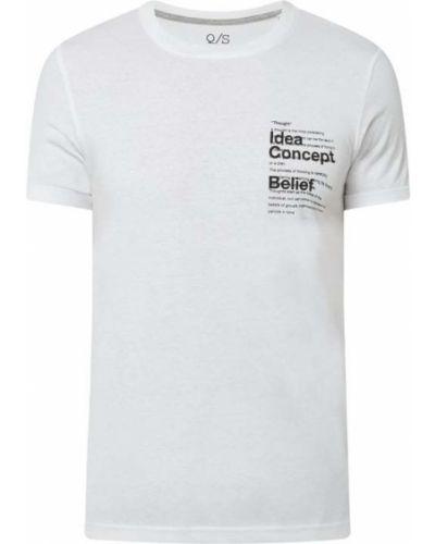 T-shirt bawełniana - biała Q/s Designed By
