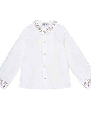 Ватная хлопковая белая рубашка на торжество Tartine Et Chocolat