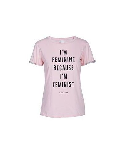 Розовая футболка хлопковая Pinko