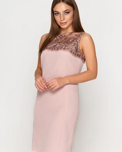 Вечернее платье осеннее бежевое Sellin