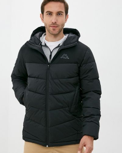 Черная утепленная куртка Kappa
