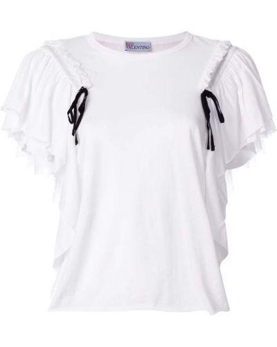 Белая футболка со шнуровкой Red Valentino
