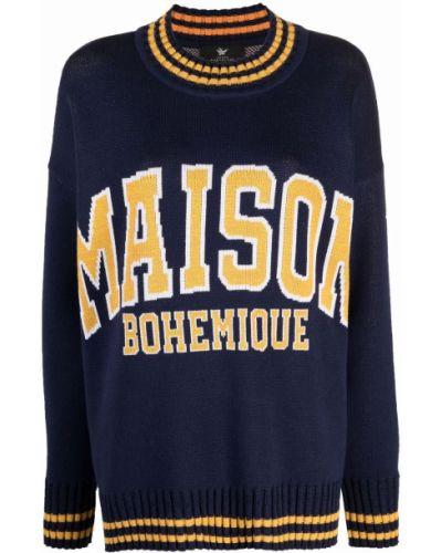 Синяя кофта с длинными рукавами Maison Bohemique