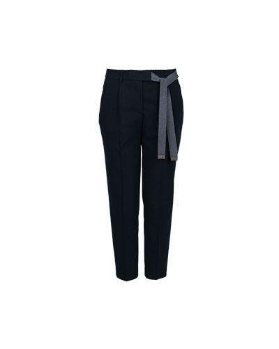 Укороченные брюки со стрелками синие Peserico