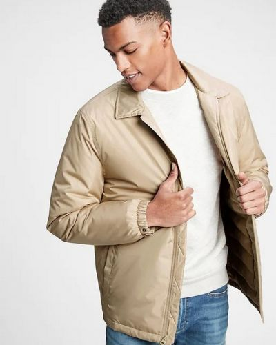 Куртка на молнии - бежевая Gap