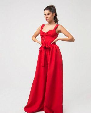 Красный облегающий брючный костюм Lipinskaya Brand