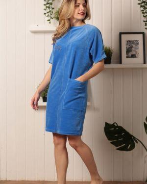 Платье мини велюровое Mix-mode