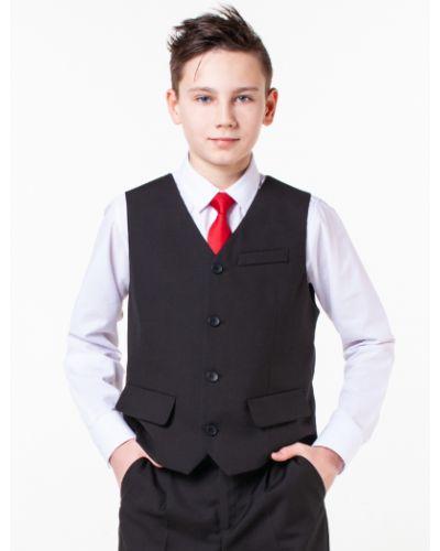 Черная костюмная жилетка на пуговицах с подкладкой Orby