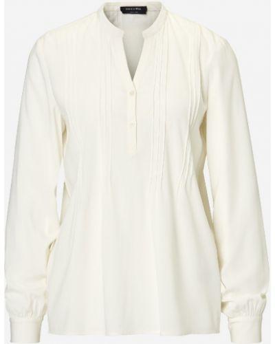 Классическая блузка с воротником на пуговицах свободного кроя Marc O' Polo