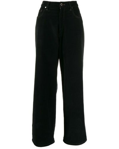 Широкие джинсы вельветовые черные Brunello Cucinelli