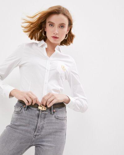 Джинсовая рубашка - белая Trussardi Jeans