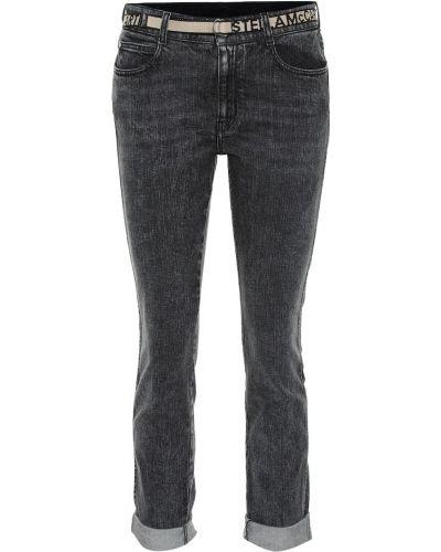 Черные джинсовые джинсы с манжетами с декоративной отделкой Stella Mccartney