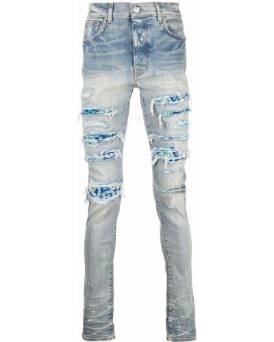 Джинсовые зауженные джинсы - синие Amiri