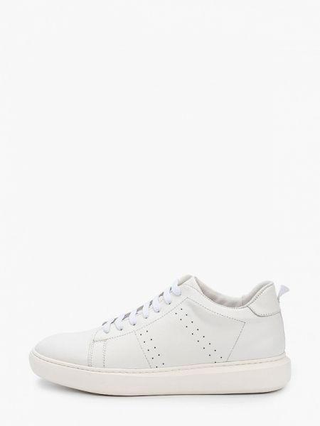 Белые кожаные кроссовки Guido Grozzi
