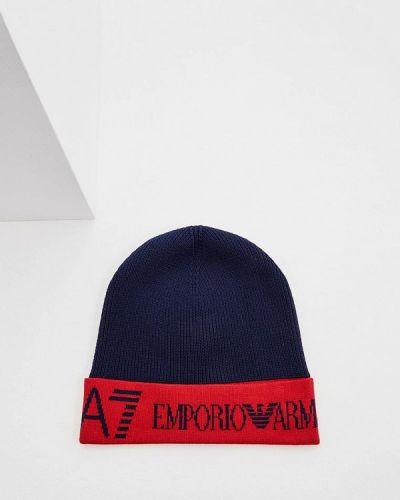 Синяя шапка осенняя Ea7