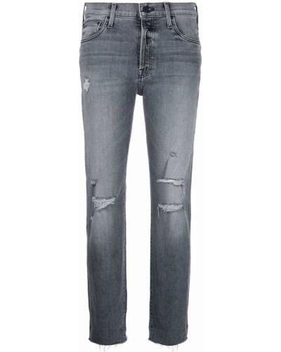 Серые укороченные джинсы Mother