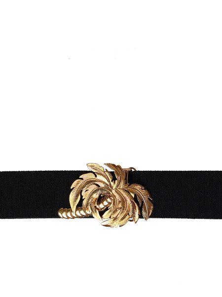Черный широкий ремень металлический с пряжкой свободного кроя Stella Mccartney