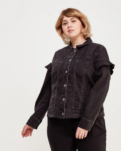 Черная джинсовая куртка Junarose