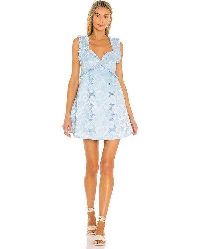 Синее платье с подкладкой на молнии For Love & Lemons