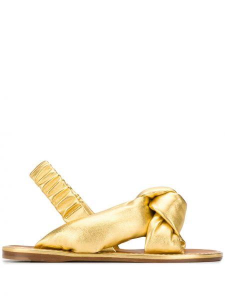 Sandały skórzany skromny Miu Miu