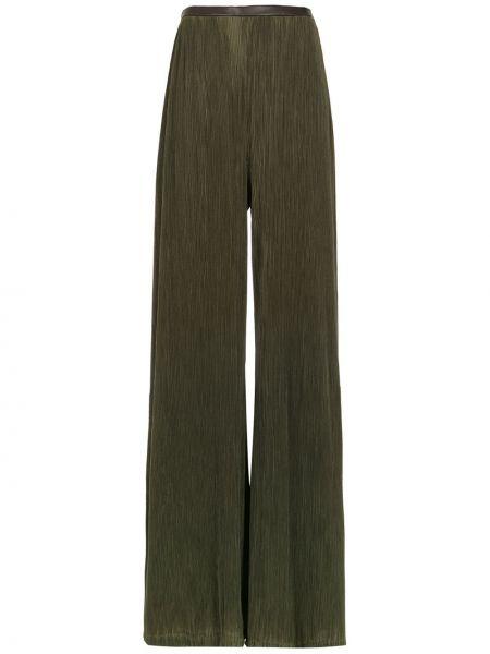 Зеленые брючные плиссированные брюки Adriana Degreas