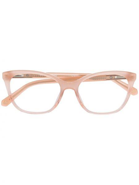 Złote oprawka do okularów - różowe Love Moschino