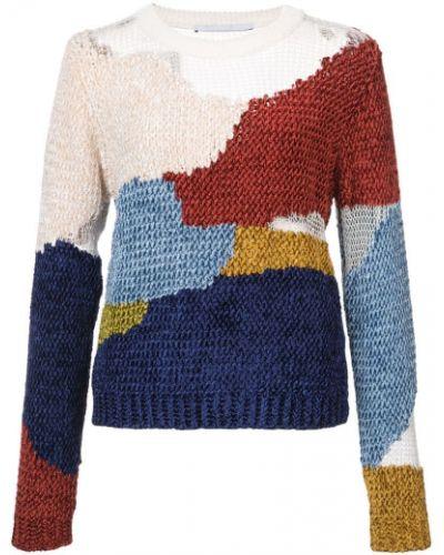 Пуловер в рубчик с аппликацией Rosetta Getty
