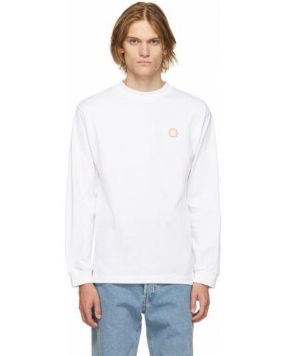 Белая футболка длинная Carne Bollente
