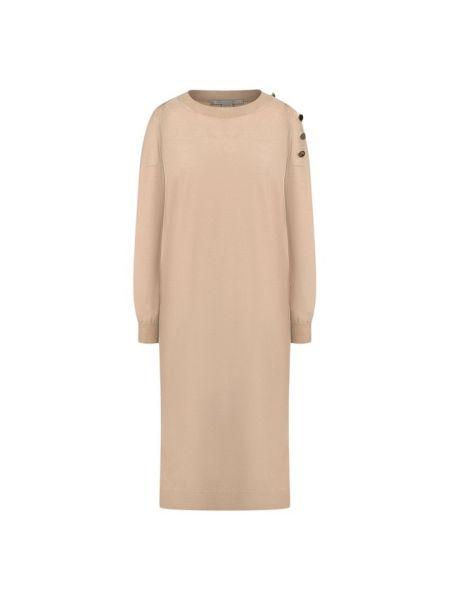 Теплое платье на пуговицах шелковое Stella Mccartney
