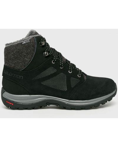 Ботинки на шнуровке трекинговые кожаные Salomon