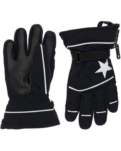 Флисовые перчатки - черные Molo