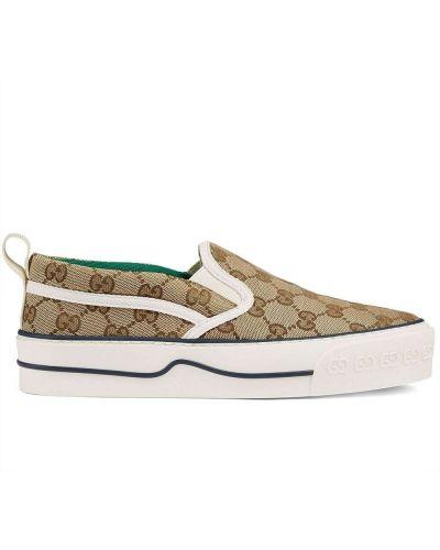 Buty do tenisa - brązowe Gucci