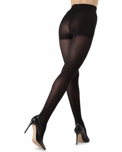 Czarne rajstopy eleganckie z nylonu Memoi