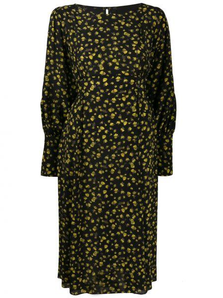 Платье макси с поясом шелковое Erika Cavallini