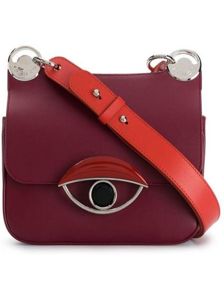 С ремешком красная кожаная сумка на плечо Kenzo