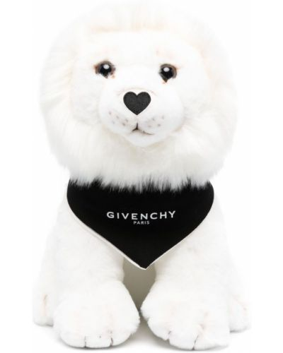 Biała bandana bawełniana z printem Givenchy Kids