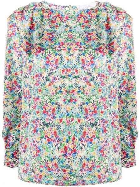 Niebieska bluzka z printem w kwiaty So Allure