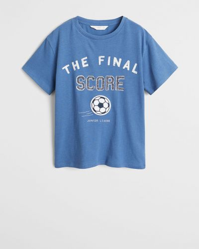 Koszula z wzorem niebieski Mango Kids