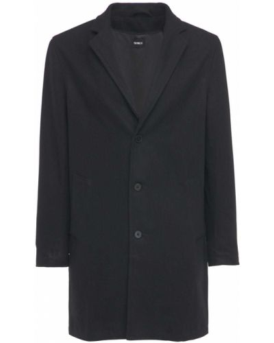 Czarny płaszcz wełniany The People Vs
